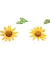 Decoratie zonnebloemen slinger geel