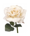 Decoratie roos vintage wit 31 cm